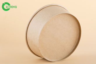 Crack Resistance Restaurants Paper Food Bowls For Pasta / Porridge ODM Service